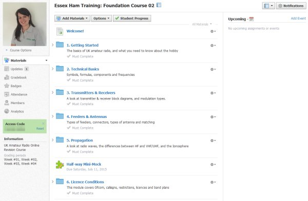 Foundation Online Course Update – July 2015