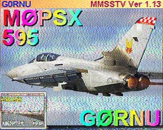 SSTV exchange between M0PSX and G0RNU on 2m today