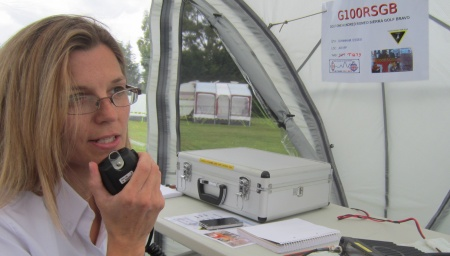 Sarah M6PSK, operating G100RSGB in Billericay, in August