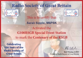 Certificates for G100RSGB Activators