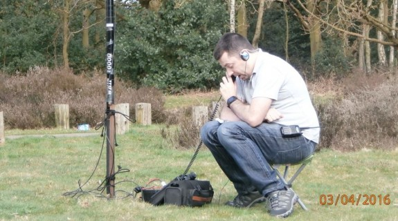 Charlie M0PZT working 40m at Galleywood Common