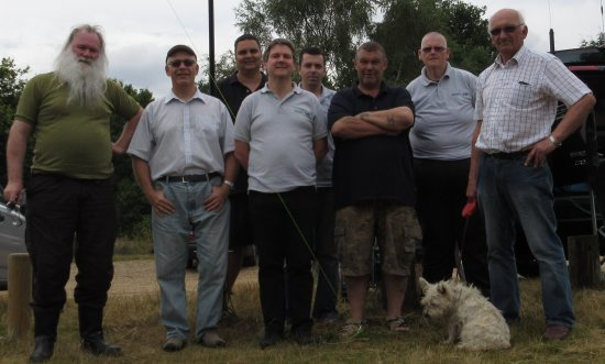 Peter, Graham, Ricky,Pete, Charlie, Mark, James and Dave at Galleywood Common