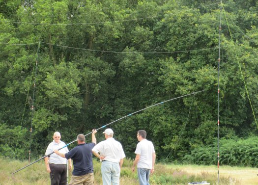 Some of the lads getting more wire into the air