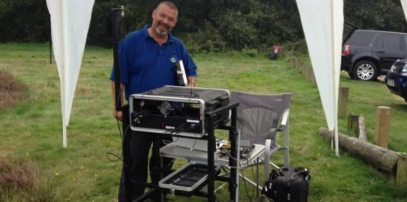 Mark M6RKC with his impressive portable frame