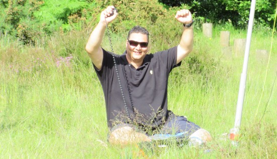 Ricky M6DII, after making his first ever HF QSO - Feeling good!