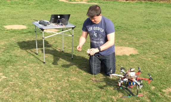 Chris M6EDF setting up his drone