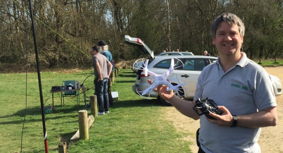 Pete M0PSX's slightly less impressive drone