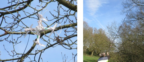 Pete's quadcopter vs the tree - Another use a 10m fishing pole