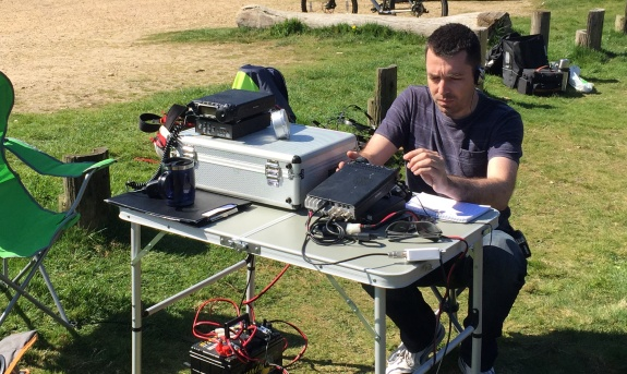 Charlie M0PZT working 15m at Galleywood Common