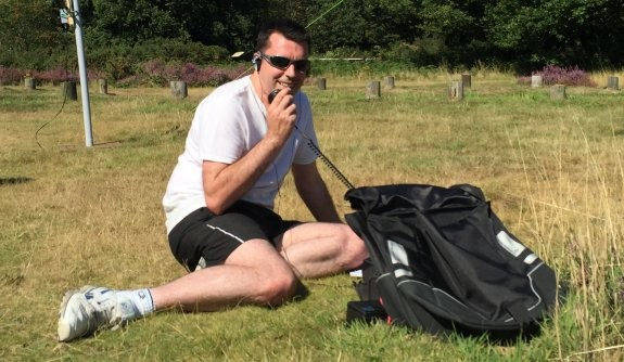 Charlie M0PZT, working 40m HF at Galleywood Common