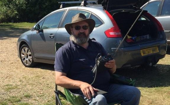 Chris G0IPU, monitoring a very quiet 6m band