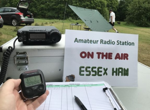 2m station on-air, and tracking the lightning