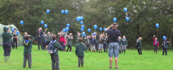 Scouts launching their own balloons