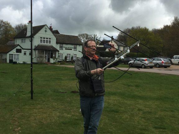 Steve M0SHQ working the SO-50 satellite