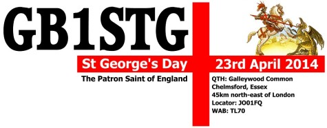 St. George's Day Activation – 23 April 2014