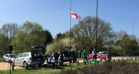 Flying the flag - St George's Day at Galleywood Common 24 April 2015