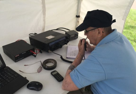 Brian working the 2m station at Bay Museum