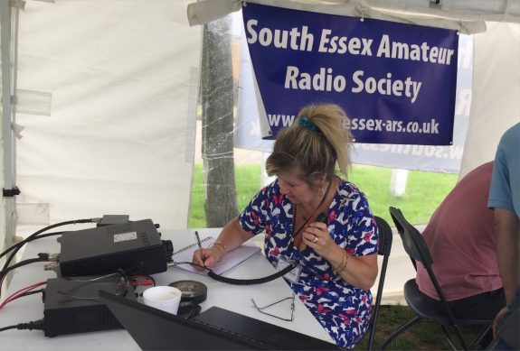 Dorothy M0LMR, on the air as GB2BM in June 2016