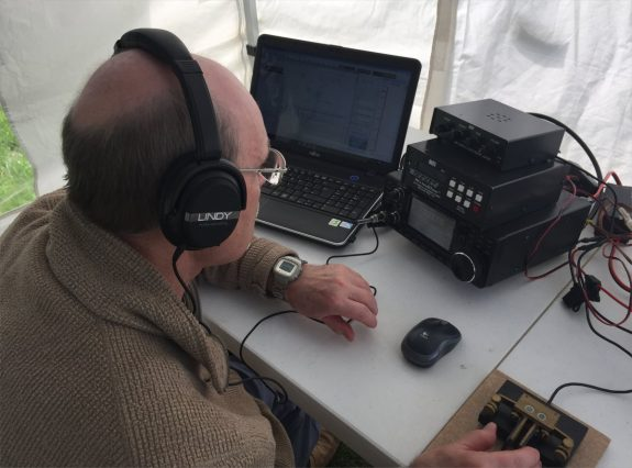 Dave, operating CW on the Icom 7300