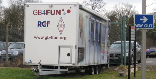 The GB4FUN van, parked in Milton Keynes