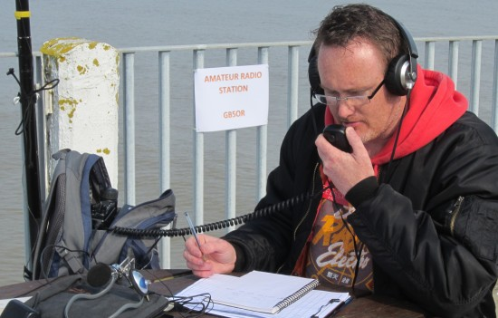 Kristian 2E0SSX, busy on 40m with GB5OR