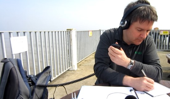 Pete M0PSX, working the pileup on 40m