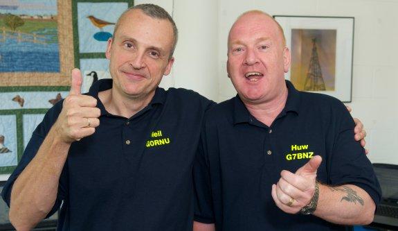 Neil G0RNU and Huw G7BNZ