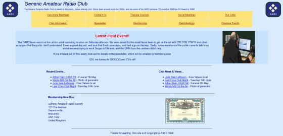 An example of a not-so-hot amateur radio website