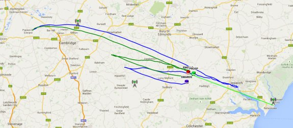 The flights of the three Pi in the Sky balloons - 29 June 2015