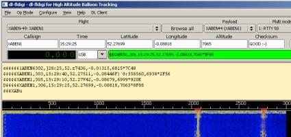 Decoding balloon telemetry data using DL-FLDigi