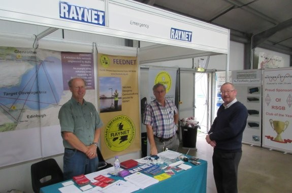 Members from Kent RAYNET, manning the stand at National Hamfest 2015