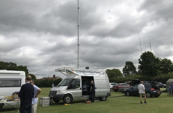 Flossie 2 operating at the East Suffolk Wireless Rally 2017