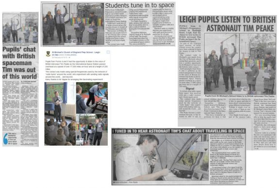 Essex press cuttings of ARISS contacts Jan-May 2016