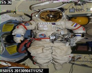 SSTV Image received from ISS 12:27BST 04 Sept 2013