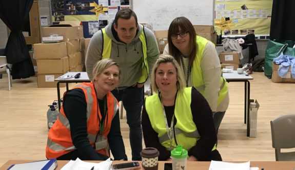Tendring District Council Rest Centre team at 2am on Friday
