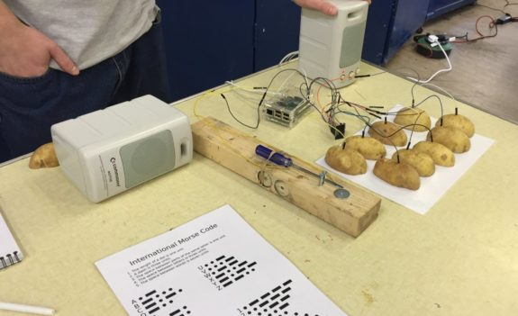 Nick's Morse Key and Muscial Potato ensemble