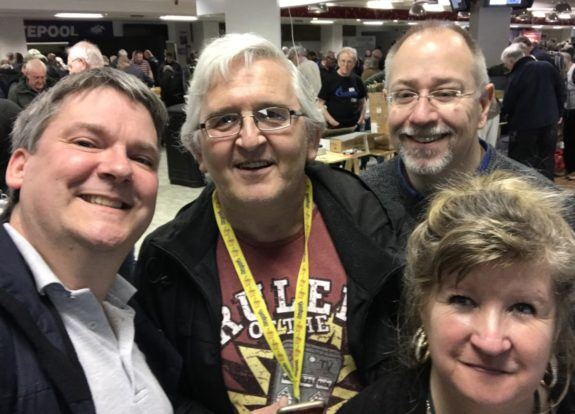 A selfie if a handful of Essex Hams at the Kempton Rally 2018