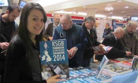 Kelly M6KFA at the RSGB bookstall