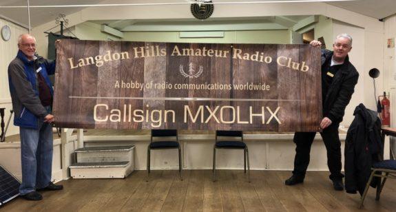 The new Langdon Hills Amateur Radio Club banner