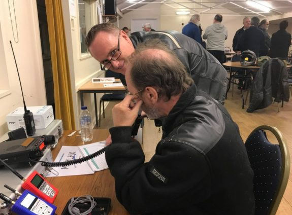Dave M6ILM and Kristian M0SSK on the LHARC club station