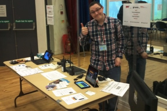 Nick 2E0DVX supporting amateur radio at the Covent Garden Raspberry Pi Jam