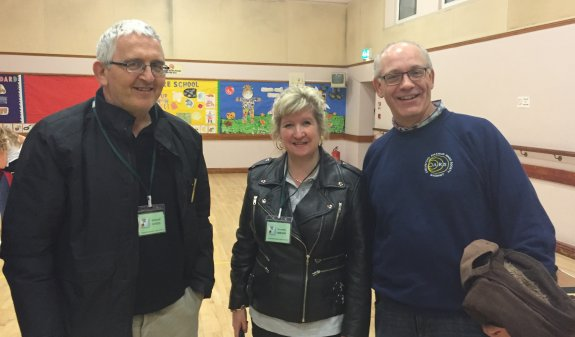 Richard G0OED, Dorothy M0LMR and Graham G6JYD - three Essex Hams in Kent