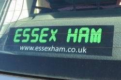 Essex Ham Car Sticker