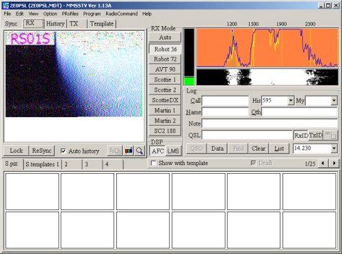 MMSSTV Application Screenshot