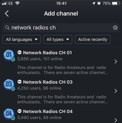 Adding Network Radio CH 01