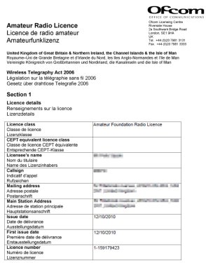 An Ofcom Foundation Licence