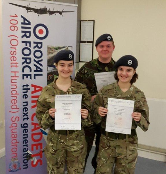 Cadet Hance, Sargent Gaywood and Cadet Hance
