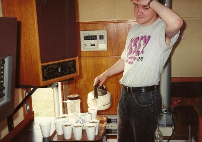Pete, making the team in the 1990s in the Essex FM OB van