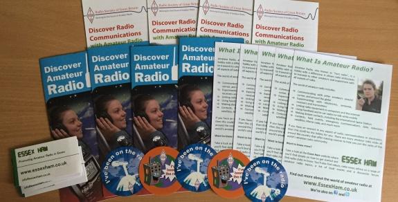 Visualización de folletos de radio aficionados