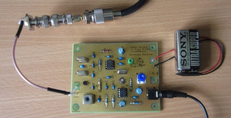 RSGB Centenary Receiver board connected and running